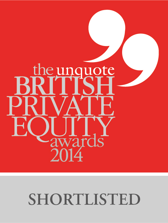 Shortlisted logo - British Private Equity Awards 2014
